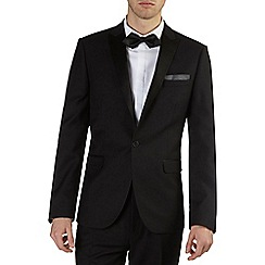 Burton - Black essential slim fit tuxedo jacket