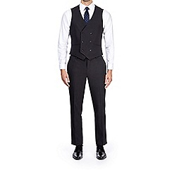 Burton - Dark grey slim fit mini textured suit waistcoat