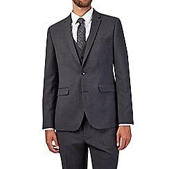 Burton - Charcoal slim fit textured suit jacket