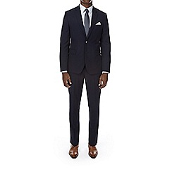 Burton - Navy textured slim fit suit jacket
