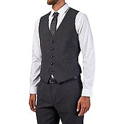 Burton - Charcoal slim fit textured waistcoat