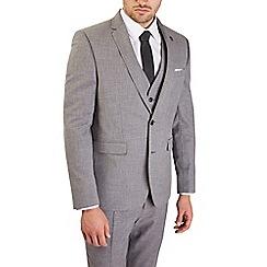 Burton - 3 Piece Grey Slim Fit Mottled Suit