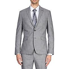 Burton - Light grey textured slim fit suit jacket