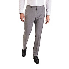 Burton - Slim fit mottled grey suit trousers