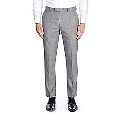 Burton - Light grey slim fit textured suit trousers