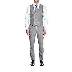 Burton - Light grey slim fit textured waistcoat