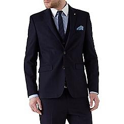 Burton - Slim Fit Navy Textured Suit