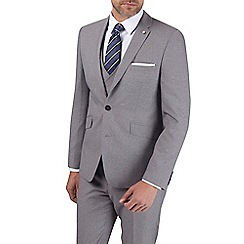 Burton - Grey jaspe slim fit suit jacket