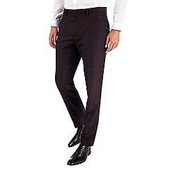 Burton - Burgundy slim fit textured tuxedo trousers