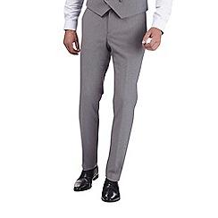 Burton - Grey jaspe slim fit suit trousers