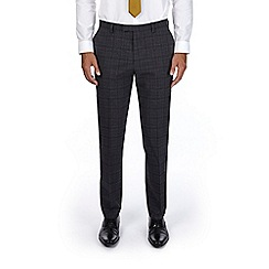 Burton - Grey and brown slim fit suit trousers
