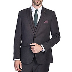 Burton - Slim Fit Grey Flannel Suit