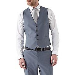 Burton - Slim fit steel blue waistcoat