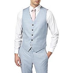 Burton - Pale blue slub slim fit waistcoat