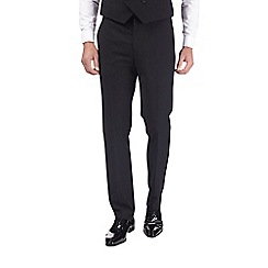 Burton - Black textured slim fit tuxedo trousers