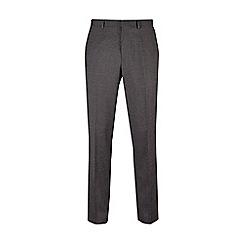 Burton - Mid grey slim fit textured mouline suit trousers