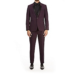 Burton - Purple textured slim fit tuxedo jacket