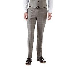 Burton - Slim fit grey windowpane check suit trousers