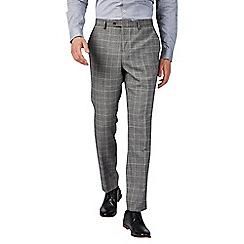 Burton - Montague burton slim fit grey and burgundy check suit trousers