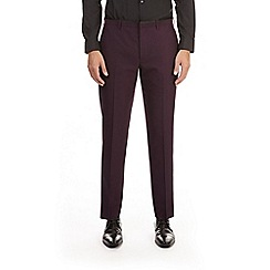 Burton - Purple textured slim fit tuxedo trousers