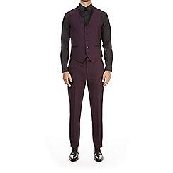 Burton - Purple textured slim fit tuxedo waistcoat