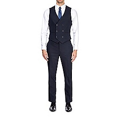 Burton - Blue slim fit mini textured waistcoat