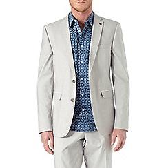 Burton - Slim fit stone cotton suit jacket