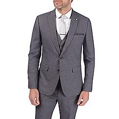 Burton - Grey grindle slim fit suit jacket