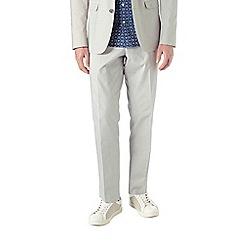 Burton - Slim fit stone cotton suit trousers
