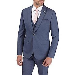Burton - Blue jaspe slim fit suit jacket