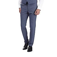 Burton - Blue jaspe slim fit suit trousers
