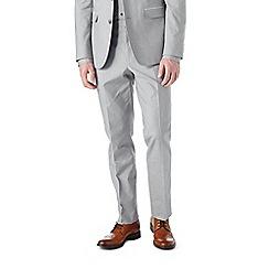 Burton - Slim fit grey cotton suit trousers