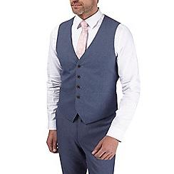 Burton - Blue jaspe slim fit waistcoat