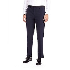 Burton - Navy dobby slim fit tuxedo suit trousers