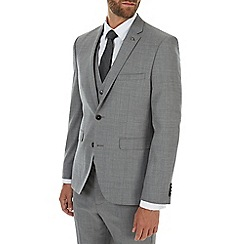Burton - Montague 100% wool grey textured suit jacket
