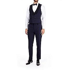 Burton - Navy dobby slim fit tuxedo waistcoat