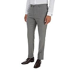 Burton - Montague 100% wool grey textured suit trousers