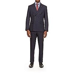 Burton - Montague burton navy textured slim fit suit jacket