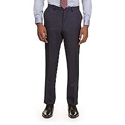 Burton - Montague burton navy textured slim fit suit trousers