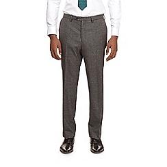 Burton - Montague burton grey puppy tooth slim fit suit trousers