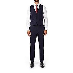 Burton - Montague burton navy slim fit waistcoat