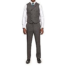 Burton - Montague burton  grey puppytooth slim fit waistcoat