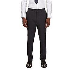 Burton - Montague burton blue slim fit checked suit trousers