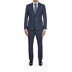 Burton - 3 Piece Montague Burton Blue Check Slim Fit Suit