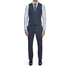 Burton - Montague burton blue check slim fit waistcoat