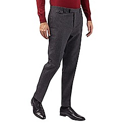 Burton - Montague grey wool blend slim fit puppytooth suit trousers