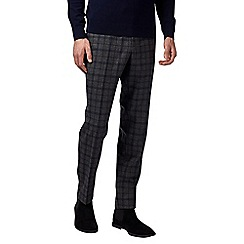 Burton - Montague grey and blue check trousers