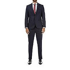 Burton - 3 piece montague navy slim fit suit