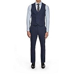 Burton - Montague burton blue slim fit waistcoat