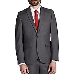 Burton - Grey essential slim fit suit jacket